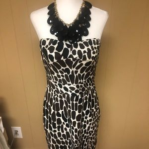 Trina Turk Animal Print Strapless Dress, Size 6